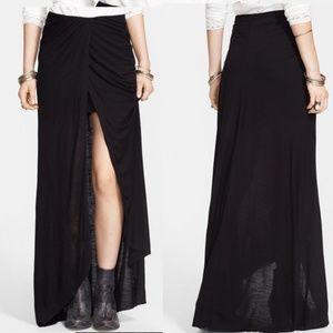 Dresses & Skirts - NWT Free People Draped Jersey Maxi Skirt Black S